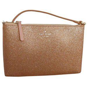 Kate Spade Joeley Crossbody Rose Gold Glitter Bag